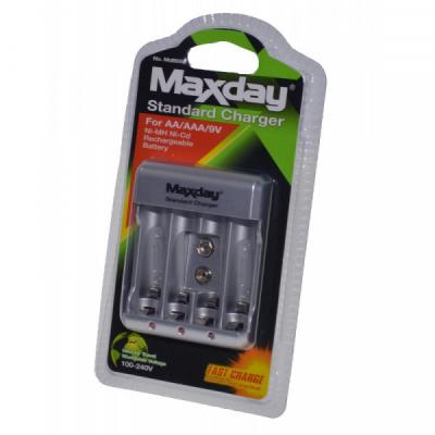Incarcator Dublu la 220V Acumulatori R03/R6/9V MAXDAY INCMD816B