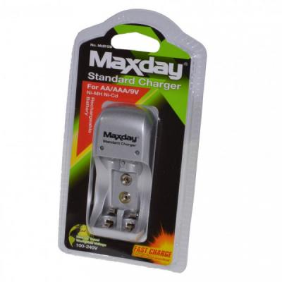 Incarcator Simplu  la 220V Acumulatori R03/R6/9V MAXDAY INCMD812B