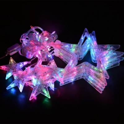 Instalatie Ghirlanda 12 Stele Decoratiuni Luminoase Multicolore 3x1m P