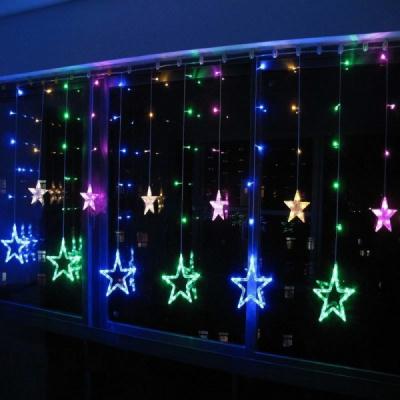 Instalatie Ghirlanda 12Stele Decoratiuni Luminoase Multicolore 3x1m P