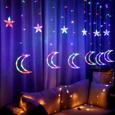 Instalatie Ghirlanda 6 Stele 6 Semiluni Luminoase Multicolore 3x1m