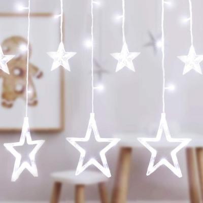 Instalatie Ghirlanda Perdea 12 Stele Perdele Luminoase Alb Rece 3x1m P