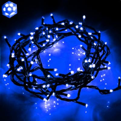 Instalatii Luminoase Craciun Snur 8m 100LED 7in1 Albastru FN P 5815