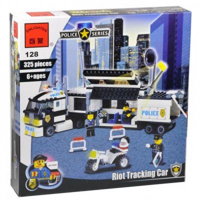 Joc tip Lego Camion Politie Enlighten 128 cu 325 Piese
