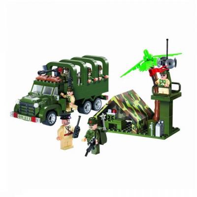 Joc tip Lego Camion Razboi Enlighten 811 cu 308 Piese