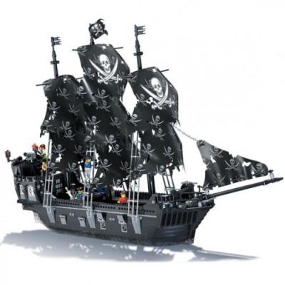 Jucarie tip lego Corabia Piratilor Black Pearl Kazi KY87010 1184 Piese