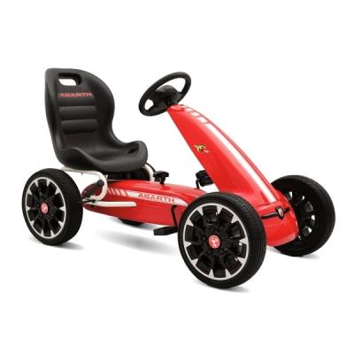 Kart cu Pedale pentru Copii 113x57x73cm Abarth 500 Assetto GC002 Rosu
