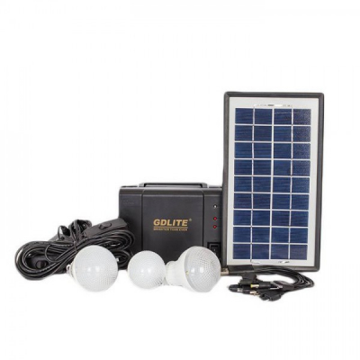 Kit Incarcator Urgente cu Panou Solar GdLite GD8006A 6V4Ah