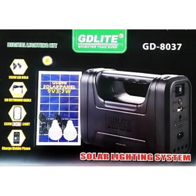 Kit Panou Solar 7W cu Lanterna Gdlite GD8037