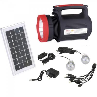 Kit Solar cu Lanterna LED 5W, 3 Becuri si Slot USB GSM YJ1902T