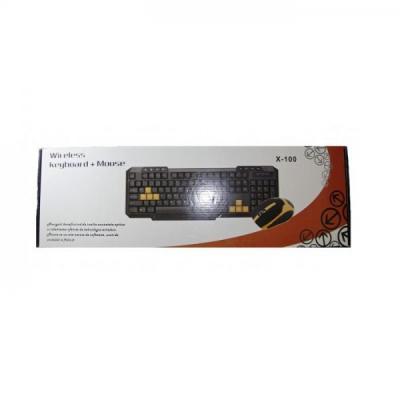 Kit Wireless Tastatura Multimedia cu Mouse Digittex X100