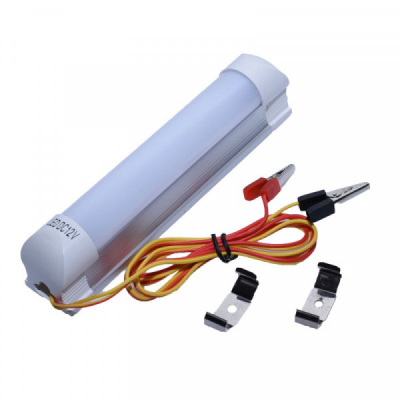 Lampa Auto cu LED 4W T8 16cm Cabluri cu Clesti la 12V LEDT804W