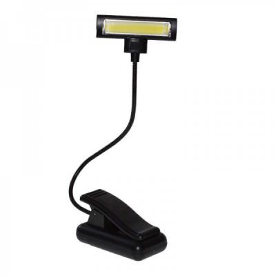 Lampa de Citit Carte cu Clips, Brat Flexibil, pe Baterii LAMP3XR3