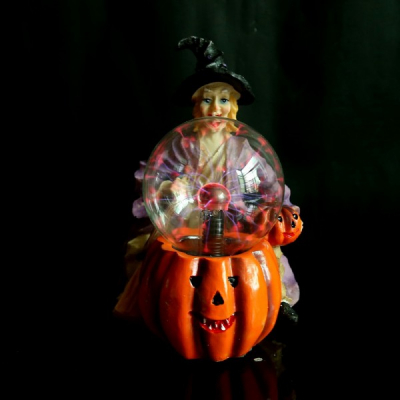Lampa Glob cu Plasma Suport Vrajitoare Halloween