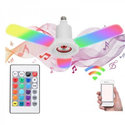 Lampa LED Alb si RGB E27 36W Boxa Bluetooth Senzor Muzica Telecomanda