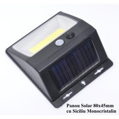 Lampa Perete COB LED Incarcare Solara, Senzori, On/Off LAMPFA566