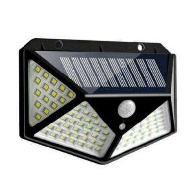Lampa Solara Perete cu 4 fete, Senzor Miscare Lumina 100LED BK100