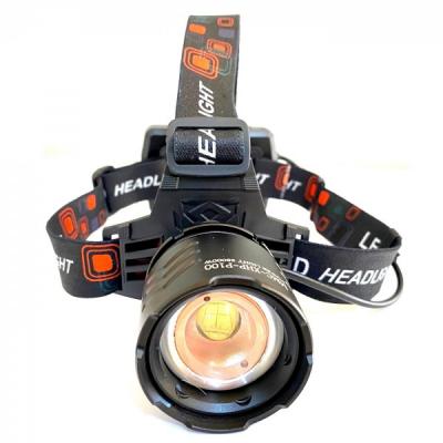 Lanterna Frontala LED 10W Zoom 3Faze 3x18650 Incarcare USB MMCXHP P100