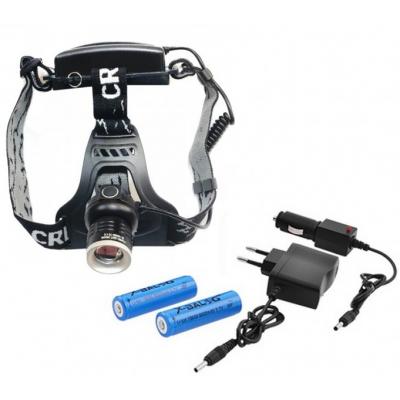 Lanterna Frontala LED 3W Acumulatori 18650 Zoom 12V 220V BL5836T6