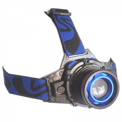Lanterna Frontala Metalica LED 3W Acumulator si Zoom 220V MXK16