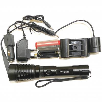 Lanterna LED 1Faza Suport Arma Vanatoare 12V 220V Buton Fir MMC520T6