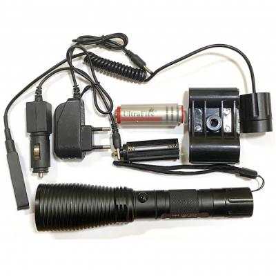Lanterna LED 1Faza Suport Arma Vanatoare 12V 220V Buton Fir MMC521T6