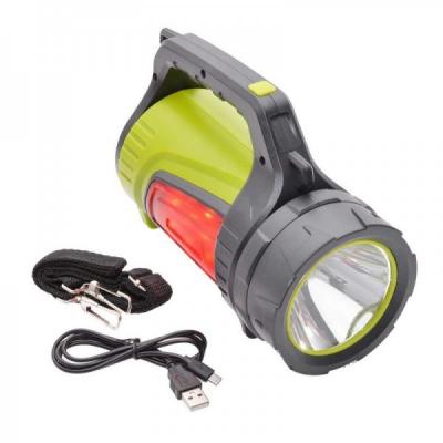 Lanterna LED Alb, Panou Rosu Lateral Reincarcabila la USB 30W JS881B
