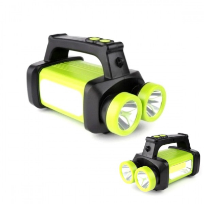 Lanterna LED Dubla 1W si COB pe Baterii 3xAA HX8802B