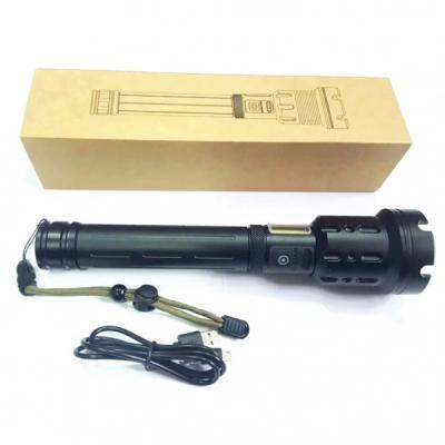 Lanterna LED si COB Profesionala Zoom 10W USB 2x18650 SmartStop P100
