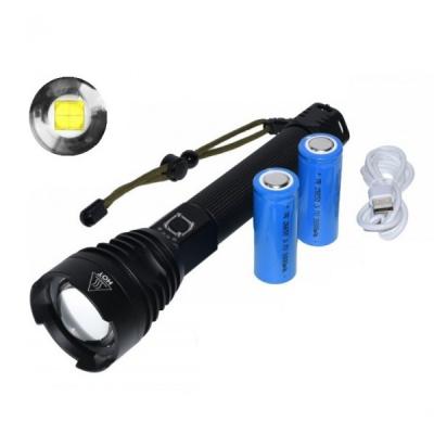 Lanterna Profesionala LED Puternica, Zoom, la USB 2x26650 XHP90