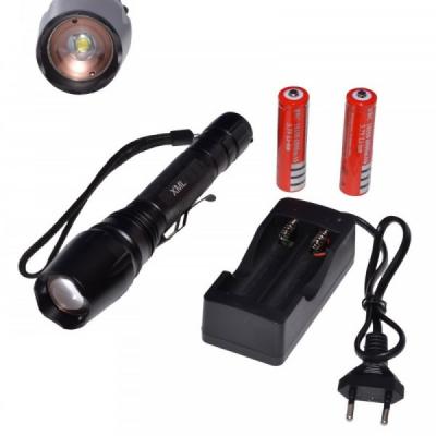 Lanterna Profesionala LED XML L6 5W Zoom 220V Acumulatori LNTXMLL65W