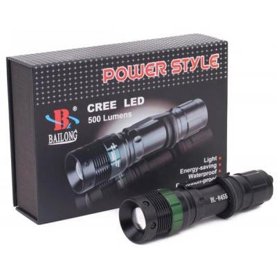 Lanterna LED Zoom 12V 220V Power Style Bailong BL8455 SH6652