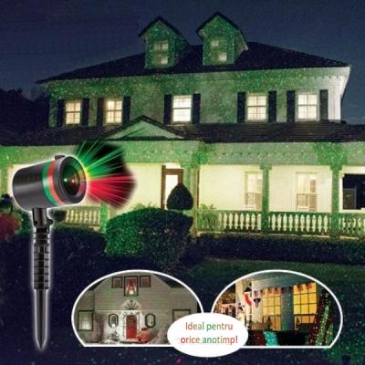 Laser Gradina tip Star Shower Clasic Puncte Rosii Verzi 220V LZ9603