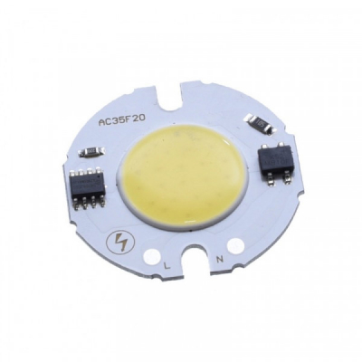 LED COB 35mm Putere 4W 220V Alb Rece LEDH35F04022