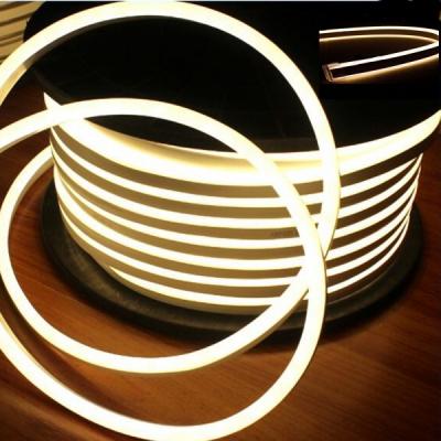 Neon Flex Furtun Luminos Flexibil Rola 100m Alb Cald 2Fete 0.8x1.7cm