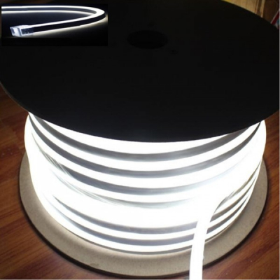 Neon Flex Furtun Luminos Flexibil Rola 100m Alb Rece 2Fete F8050W
