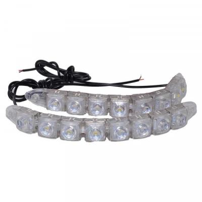 Lumini de Zi si Semnalizare Auto 2x8 LED DRL 8000K 12V 8W LEDDRL208