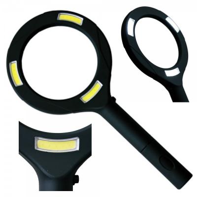 Lupa Electrica pe Baterii 3 Dioptrii Iluminare 3x COB LED Alb Rece