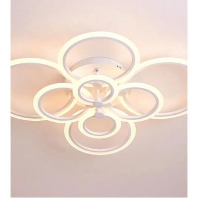 Lustra LED cu Telecomanda 160W Alb Rece Neutru Cald Dimabil 6601/2x4