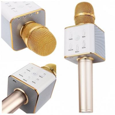 Microfon Wireless Karaoke cu Bluetooth, Boxa si USB Q7