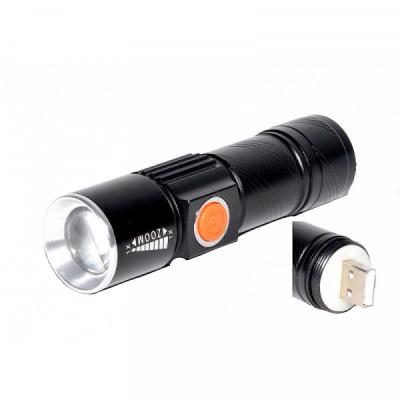 Mini Lanterna LED 3W Compacta Zoom Incarcare Directa USB LANTXPGR5
