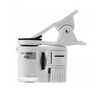 Mini Lupa Microscop Camera Telefon marire 60X Clips LED UV 9595W