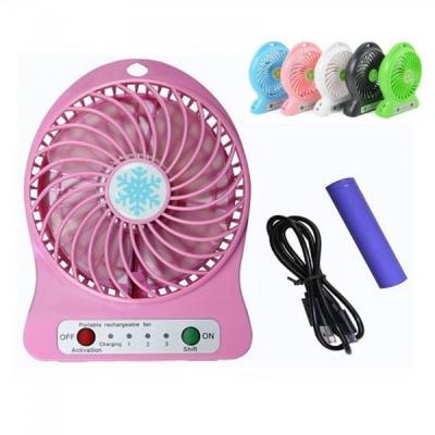 Mini ventilator Portabil cu Acumulator 18650, USB si Lanterna ZDLF68