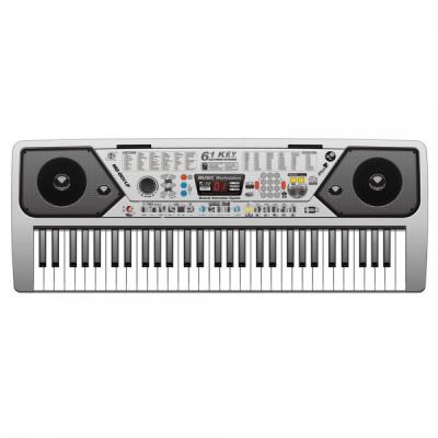 Orga electronica 61 clape USB radio FM Microfon Suport MQ001UF
