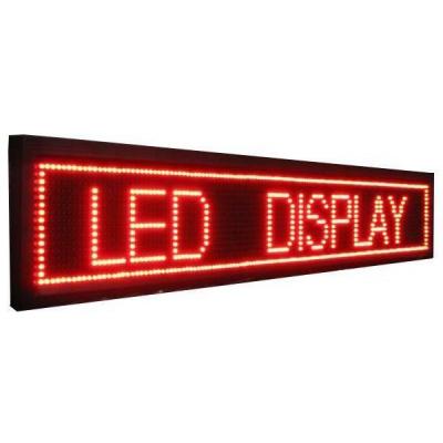 Panou Afisaj Firma Luminoasa Exterior cu LEDuri Rosii 135x20cm
