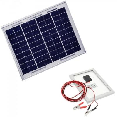 Panou Solar Fotovoltaic 10W  36 Celule 36x24cm Cablu Clesti 12V