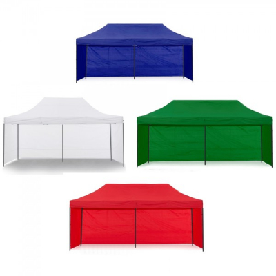Pavilion Gradina 3x6m cu 3 Pereti Cort Pliabil Sistem Acordeon