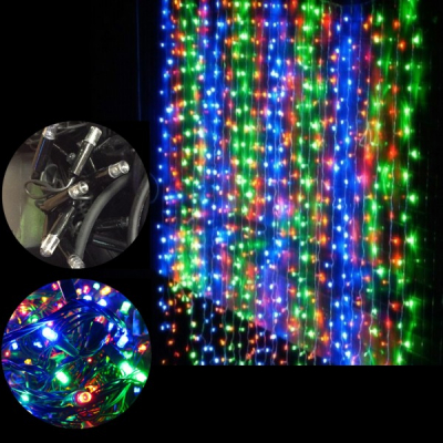 Perdea Digitala Craciun 5x1m 396LED Multicolor Fir Negru IP44 P 5817