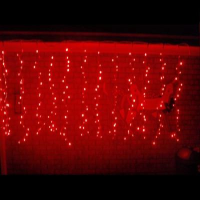Perdea Luminoasa Craciun 5x1m 240LED Rosu Fir Negru P Flash 6029R