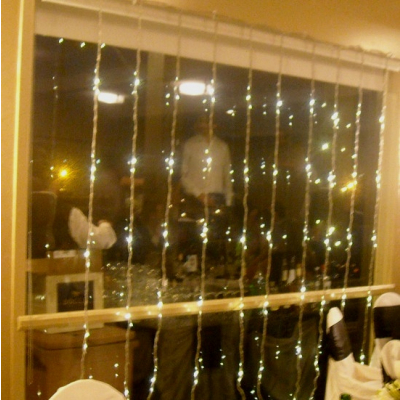 Perdea Luminoasa Ploaie Prelungibila 3x6m 960LED Alb Cald Ext FN 3140